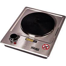 Маленька електроплита настільна одноконфорочная дискова DSP KD-4046, Електрична плита нержавійка потужна