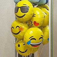 Эмоции. смайлики фольгированные шары с гелием 46 см