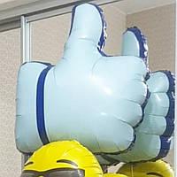 Лайк палец вверх шар. like 👍 фольгированный шар с гелием