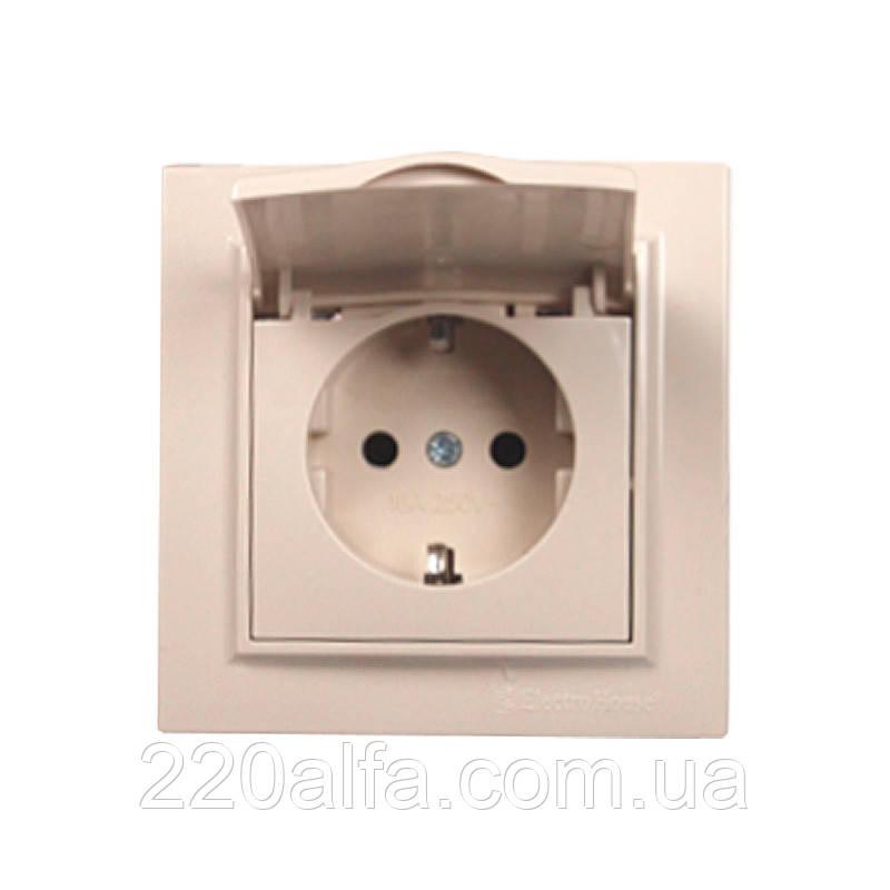 ElectroHouse Розетка з кришкою, IP44, з/з 16А