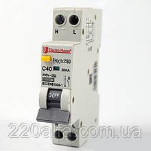 ElectroHouse Дифф. автомат 25А 1P+N (1модуль) 230/240V 6кА