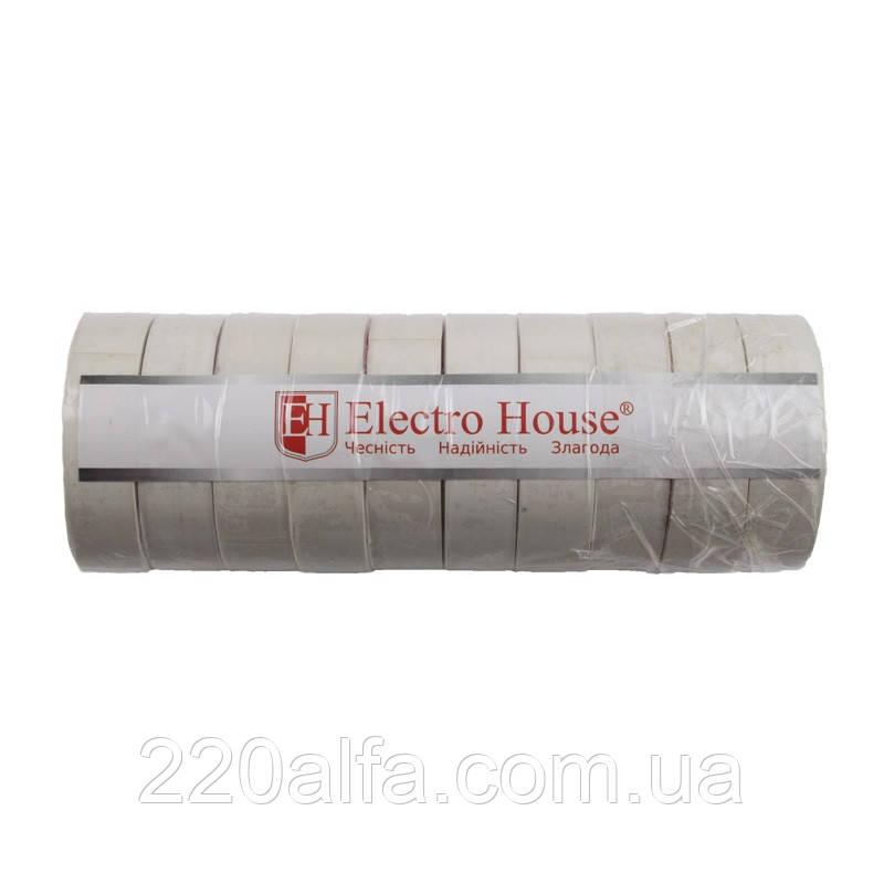 ElectroHouse Біла ізолента 25м