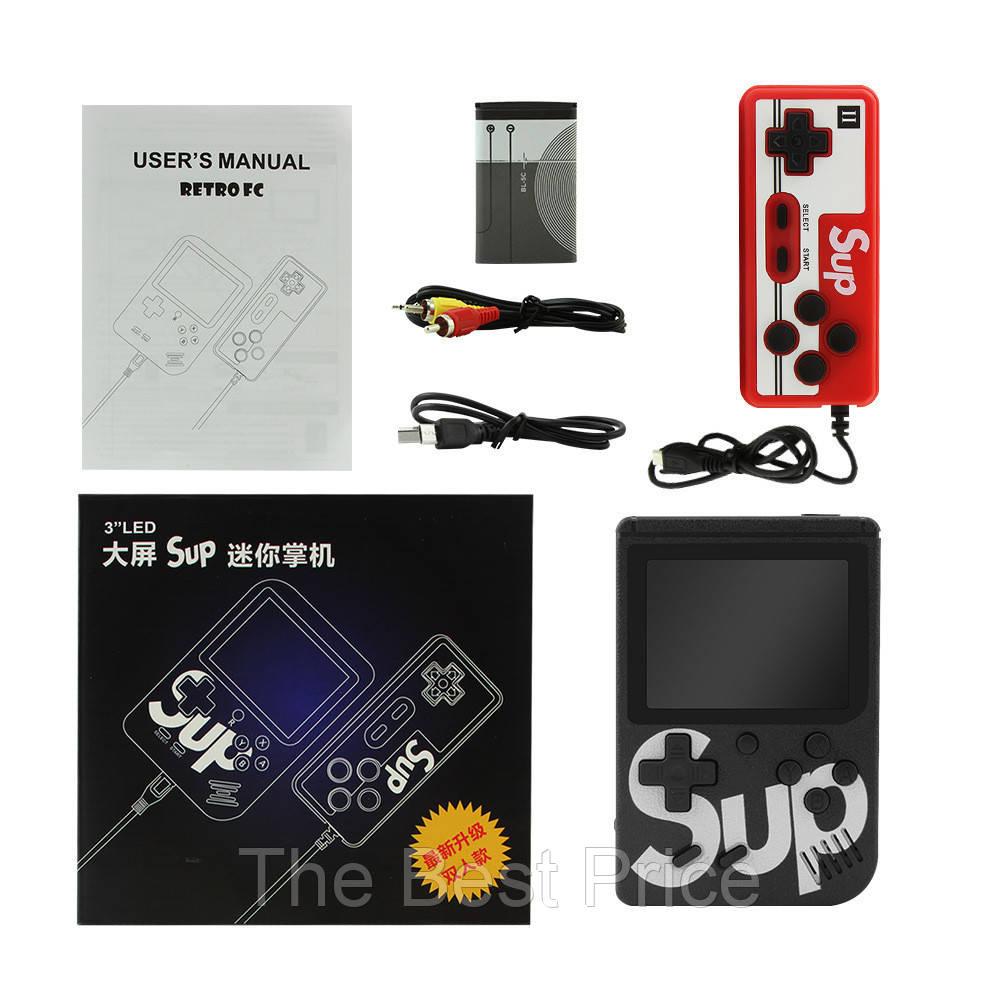 Ретро игровая приставка (Игровая консоль) Game Box sup 400 игр в 1 джойстик Black
