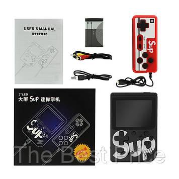 Ретро ігрова приставка (Ігрова консоль) Game Box sup 400 ігор в 1 джойстик Black
