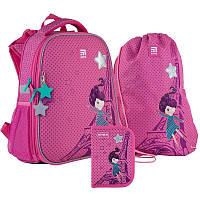 Набор Kite рюкзак + пенал + сумка для обуви French dream