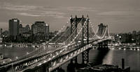 Репродукция на холсте, Ночной Манхэттен