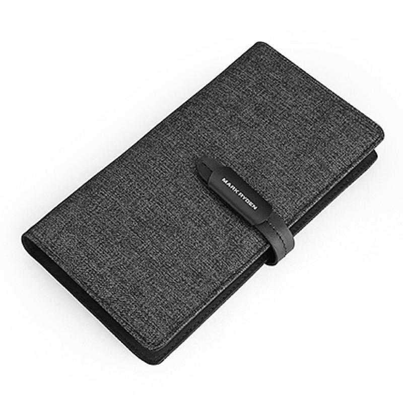 Стильний прямокутний компактний гаманець для паперових купюр і карт Mark Ryden Black Чоловічий гаманець