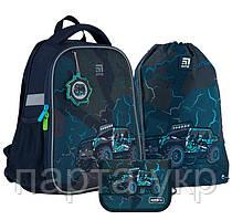 Набор рюкзак + пенал + сумка для обуви KiteCross-country, начальная школа