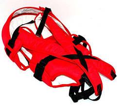 Гр Рюкзак-кенгуру №8 - 1142 (1) лёжа,цвет красный. Предназначен для детей с двухмесячного возраста