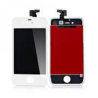 Дисплейный модуль (экран + сенсор) iPhone 4S белый (копия высокого качества)