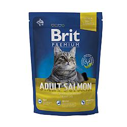 Корм Brit Premium Cat Adult Salmon Брит Преміум Кет Едалт для кішок з лососем 300 г