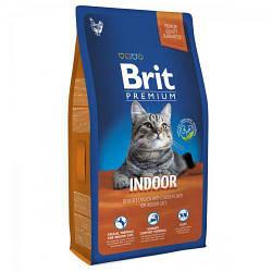 Корм Brit Premium Cat Indoor Брит Преміум Кет Індор для кішок що живуть в приміщенні 1.5 кг