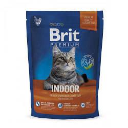 Корм Brit Premium Cat Indoor Брит Преміум Кет Індор для кішок що живуть в приміщенні 800 г