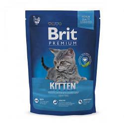 Корм Brit Premium Cat Kitten Брит Преміум Кет Кіттен для кошенят з куркою 300 г