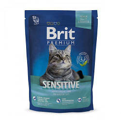 Корм Brit Premium Cat Sensitive Брит Преміум Кет Сенситів для кішок з ягням 300 г
