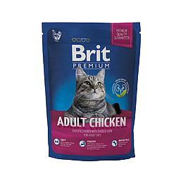 Корм Brit Premium Cat Adult Chicken Брит Преміум Кет Едалт для кішок з куркою 1,5 кг