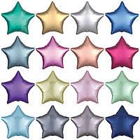 Фольгированные звезды (также может быть в форме сердца или круга) 46 см, шар матовый, глянцевый или мраморный