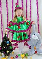 Детский новогодний костюм. Новогодний костюм елочка. Карнавальный костюм.Новогодний костюм для девочки.