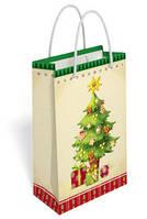 Пакет новогодний, 11х18,5см