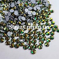 Термо стрази Lux ss16 Emerald AB (4.0 mm) 100шт