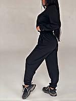Спортивный костюм женский черный из двухнитки (3 цвета) СП/-761