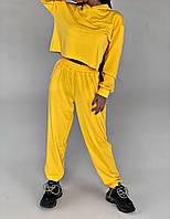 Спортивный костюм женский желтый из двухнитки (3 цвета) СП/-761
