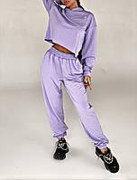 Спортивный костюм женский сиреневый из двухнитки (3 цвета) СП/-761