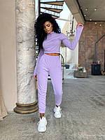 Прогулочный спортивный костюм женский лавандовый (4 цвета) ВА/-123