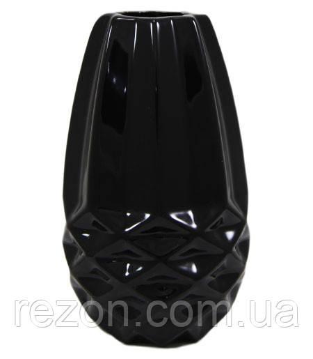 Ваза керамическая ANANAS Rezon V1801 Чорний