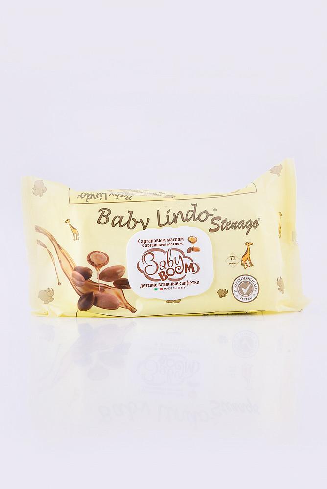 BABY BOOM Дитячі вологі серветки з маслом аргана і аллантоіном - 72 шт (з пластиковою кришкою)