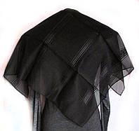 Платок черный полоска