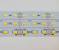 Светодиодная линейка 5630 72 LED IP20 12В 4500K (нейтральный белый) со скотчем 3М, фото 1