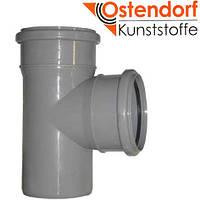 Тройник ПП 110x110х87º Ostendorf (Osma) Германия раструбный с уплотнительными кольцами серый