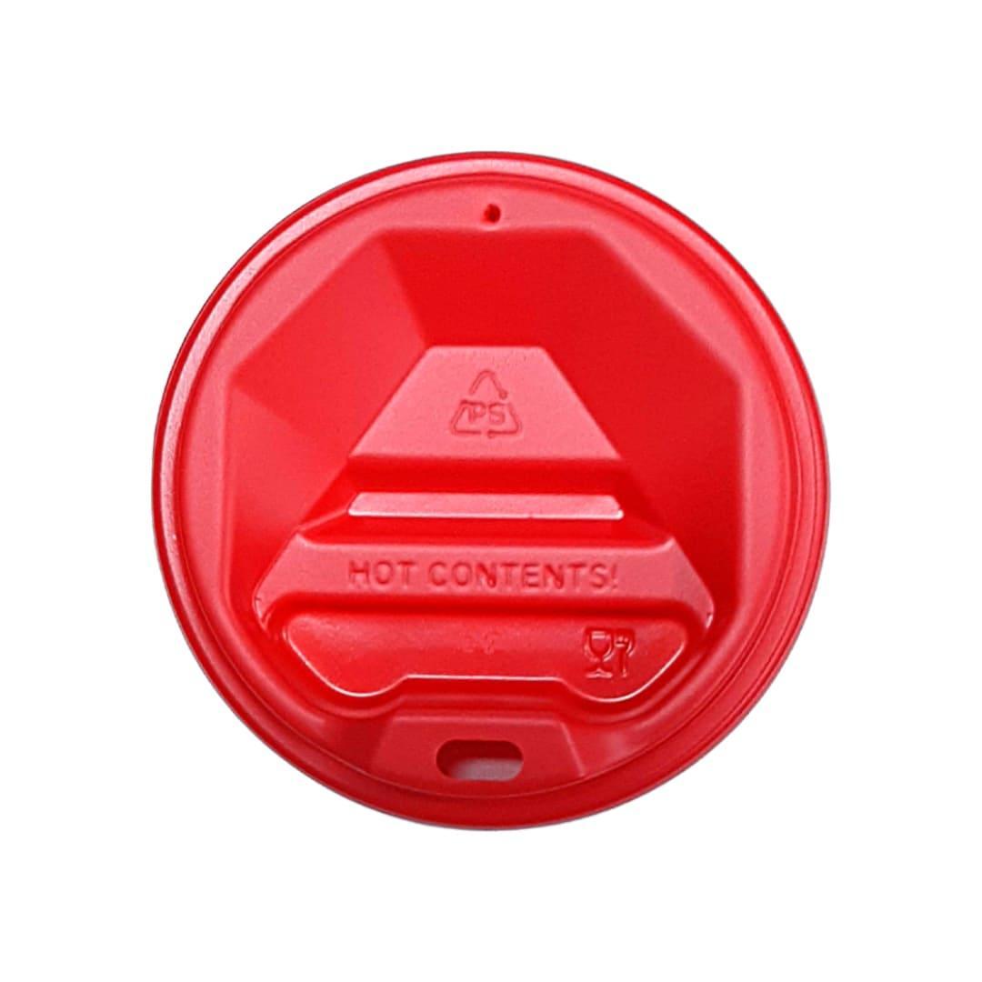 Крышка на бумажный стакан 75 мм Красная