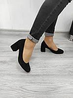 Замшевые классические туфли на каблуке, фото 1