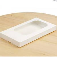 Коробка для плитки шоколаду 18х10х1,8 див. (біла)