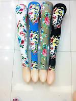 Женские лосины с цветочным принтом