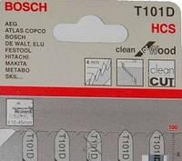 Пилки для лобзика ( уп. 5 шт.) BOSCH 101 D чистый рез дерева