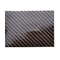 Пленка под карбон 2D глянцевая золотисто-черная под лаком 1,27 м