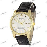 Часы мужские наручные Rolex B64 Black/Gold/White