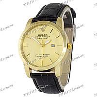 Часы мужские наручные Rolex B64 Black/Gold/Gold