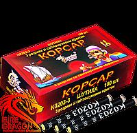 Петарды Корсар 3  3 выстрела 100 штук в упаковке