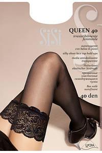 Чулки с кружевной коронкой Queen 40
