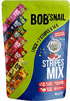 Пастила фруктово-ягідна Асорті страйпы 98 г ТМ Snail Bob