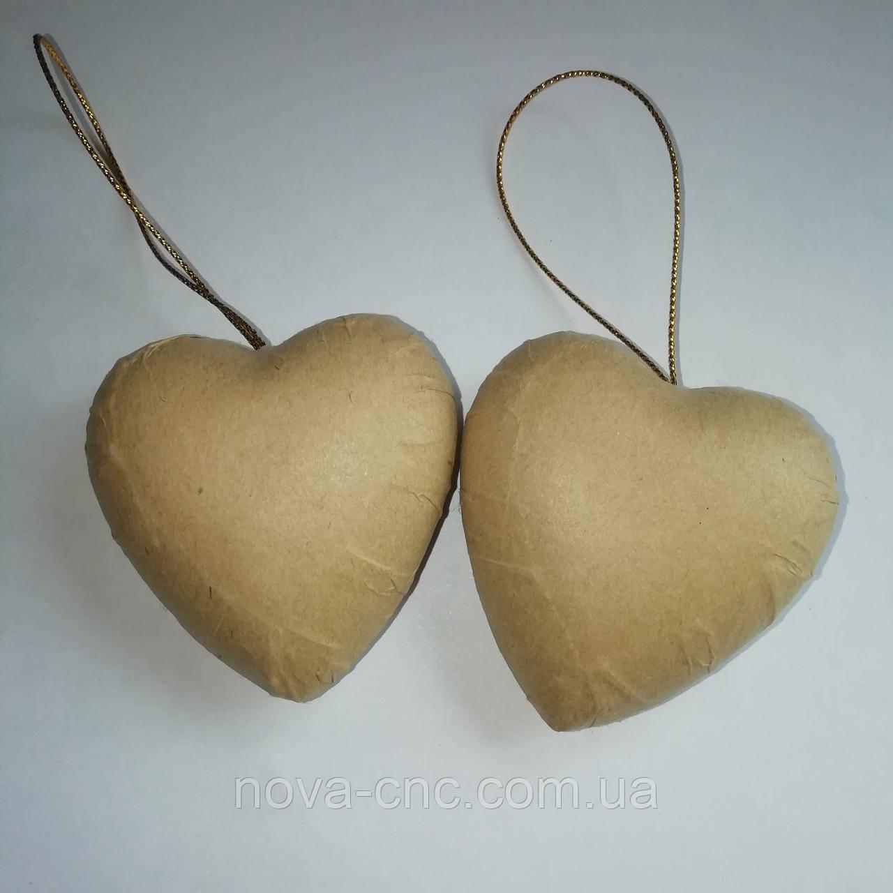 Картонное сердечко  для декора, декупажа 60 х 70 мм