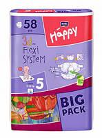 Bella Happy подгузники 5 (12-25 кг), 58 шт.