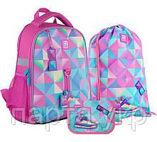 Набор рюкзак + пенал + сумка для обуви Kite Cool girl , начальная школа