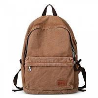 Винтажный стильный рюкзак Muzee с мягким отделом для ноутбука и ортопедической спинкой Рюкзак унисекс