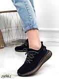 Кросівки жіночі чорні з текстилю, фото 2