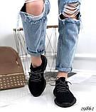 Кросівки жіночі чорні з текстилю, фото 3